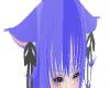 Blue neko ears