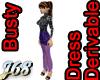 J68 Busty Long Dress
