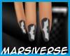 Batman Nails {Gray}