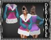A-Line Fur Dress Mesh