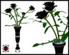 VK - Vase of Black Roses