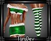 Sexy Green Santa Outfit