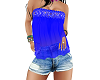 short and top blue