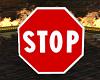 Stop Cutout Sign