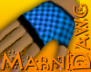 Blue Check Glove Right