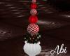 Christmas deco vase