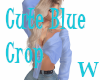 {W} Cute Blue Crop