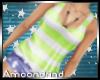 AM:: Stripe Tank Lemon