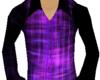 [W]Purple Button Down