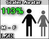 Scaler Avatar M - F 113%