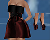 red black dress w shoes