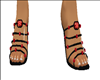 sandle black and red