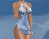 sexy blue sequin dress