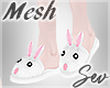 *S Bunny Slippers