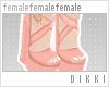 . ❀ . Coral Sandals