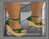 Ibiza's Green Sandals