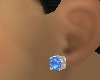 Womans Blue Stud Earring