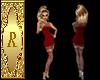 Red Lace Dress w/stockin