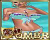QMBR Bikini Aqua Floral