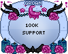 100k Support Sticker