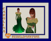(CR) Green-Gld Fur Gown