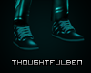 Leather Teal Shoes