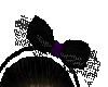 Blk & Purple Bow