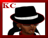 $KC$ Mafia Hat BlkRedWht