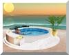 White Romantic Hot Tub