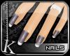 [K] Plum Ice Tip Nails