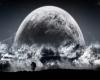 Full Moon Space Art
