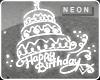 HBD CAKE NEON