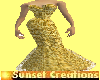 Diva gold Mesh gown
