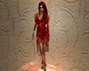 B. Red starry dress/rose
