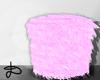 ♚ Fur stool pink