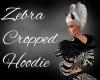 Zebra Cropped Hoodie