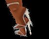 Ma's silver jewled  heel
