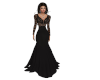 Darkness & Lace Gown