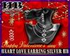 HEART LOVE EARRING SILVE