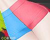 [C] Blue + Pink Short