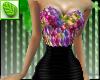 MC Floral-blk Mini Dress