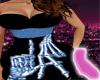 Black LA Bones Dress XXL