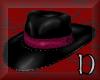 pink banded gangster hat