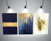 Navy Blue & Gold Artwork