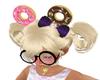 donuts headband purple