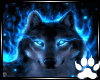 Blue Flaming Wolf