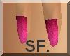 SF. Bright pink nails