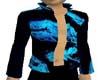 blue black open shirt