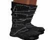 Black Worn Stomp Boots
