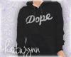 dope hoodie black   m